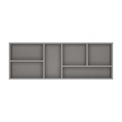 Półka do pokoju młodzieżowego szary platynowy, czarna perła / biała alpejska Laser LASP01 Meble Wójcik
