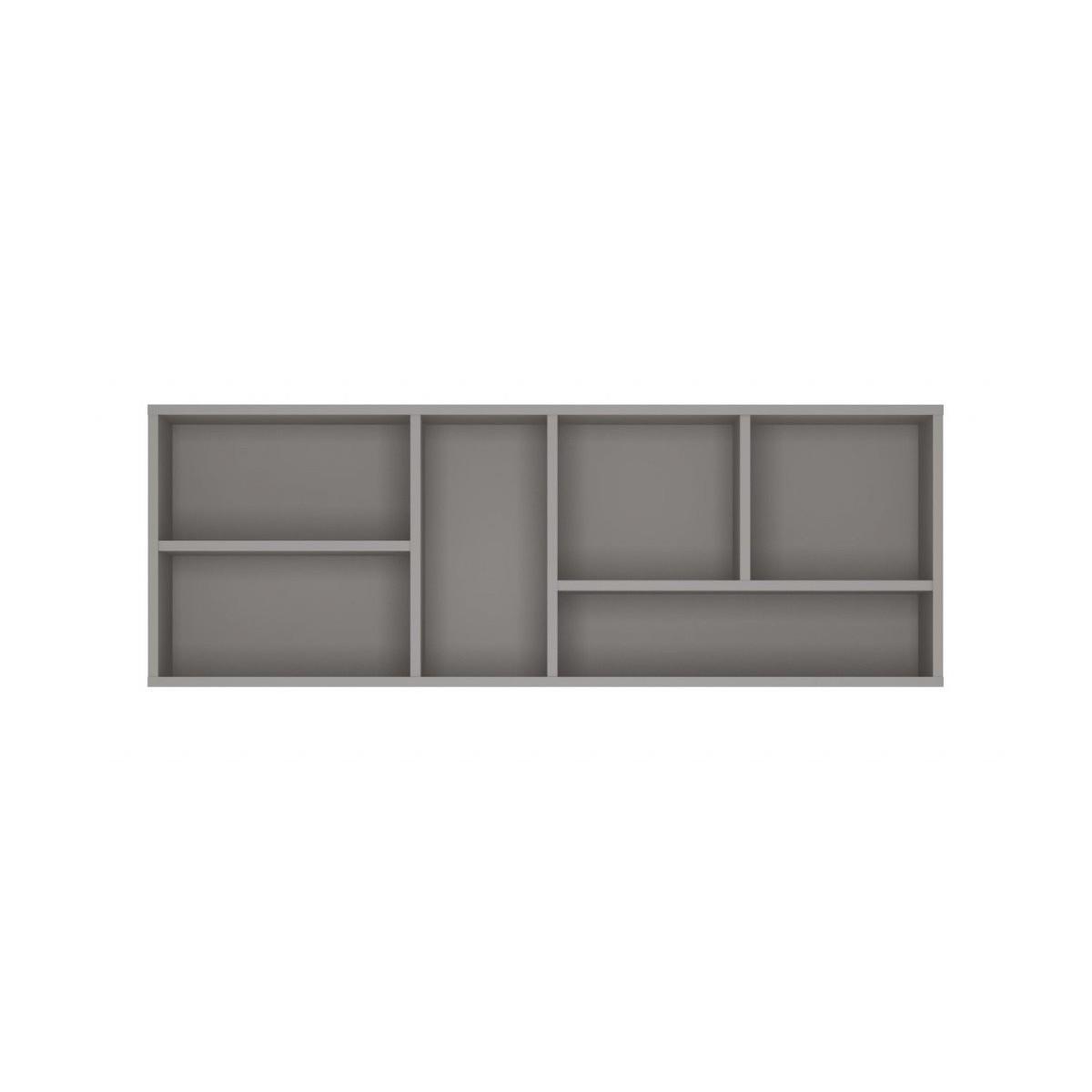 Półka do pokoju młodzieżowego szary platynowy, czarna perła / biała alpejska Laser LASP01
