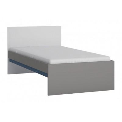 Łóżko do pokoju młodzieżowego szary platynowy, czarna perła / biała alpejska Laser 90cm LASZ01