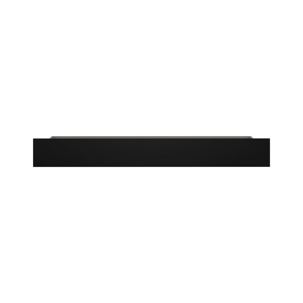 Szuflada do pokoju młodzieżowego szary platynowy, czarna perła / biała alpejska Laser LASZ02