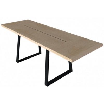 Stół Moka I 160 z wsadami dokładanymi Mebin