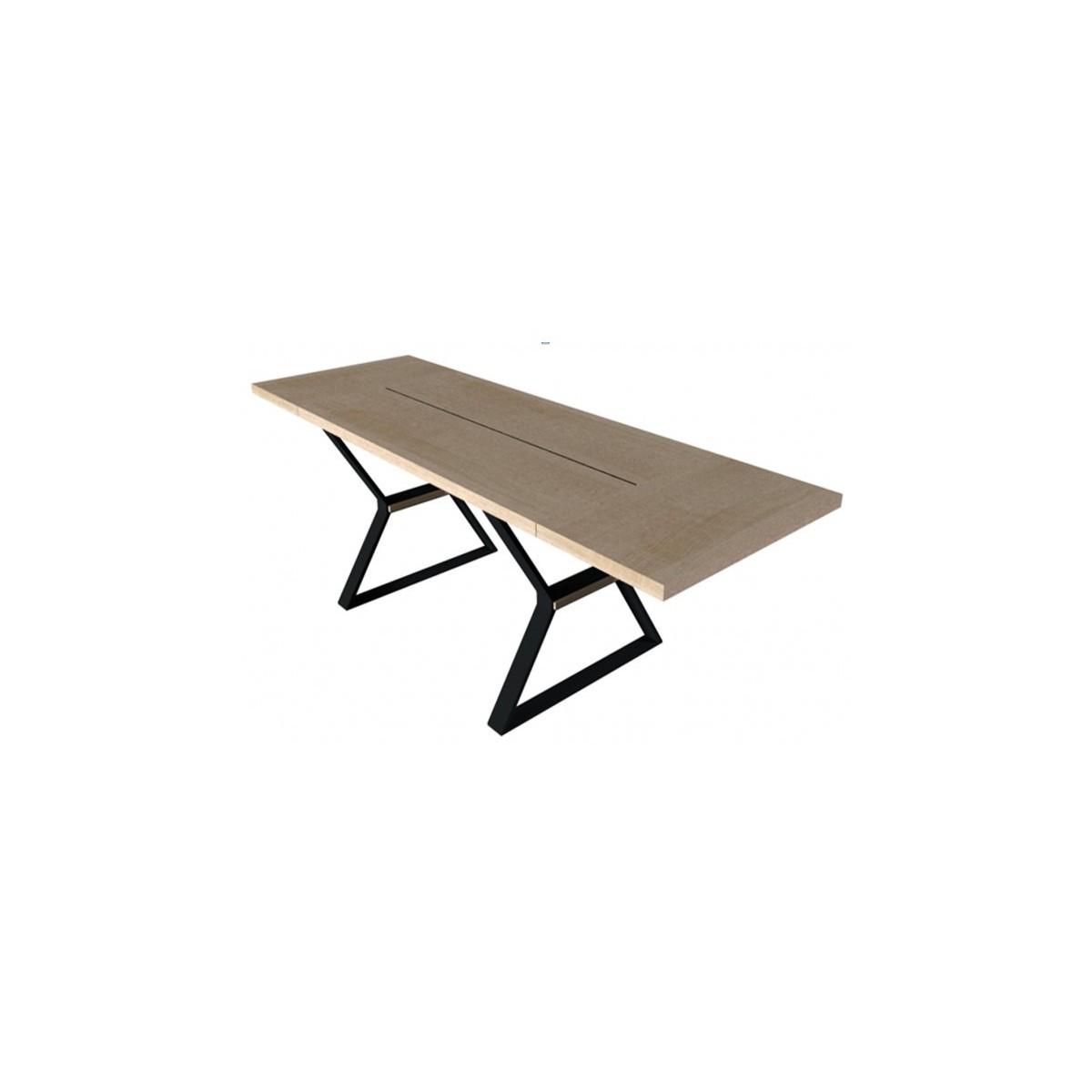 Stół Prime I 180 z wsadami dokładanymi Mebin