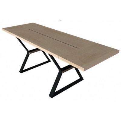 Stół Prime II 160 z wsadami dokładanymi Mebin