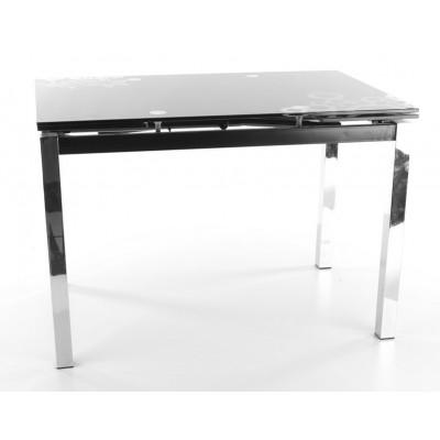 Stół GD-017 blat czarne szkło hartowane