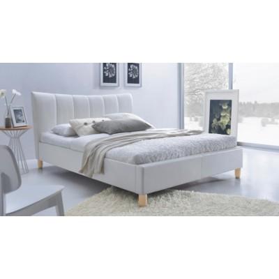 Sandy łóżko 160 białe tapicerowane Halmar