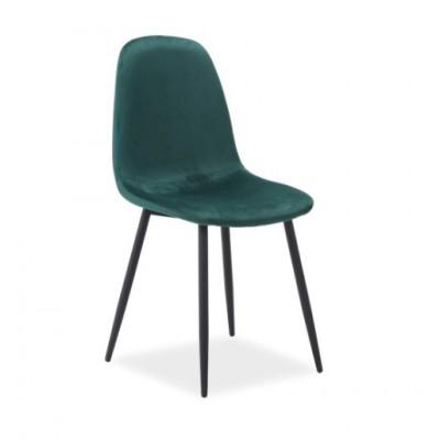 Krzesło Fox Velvet zielone aksamit