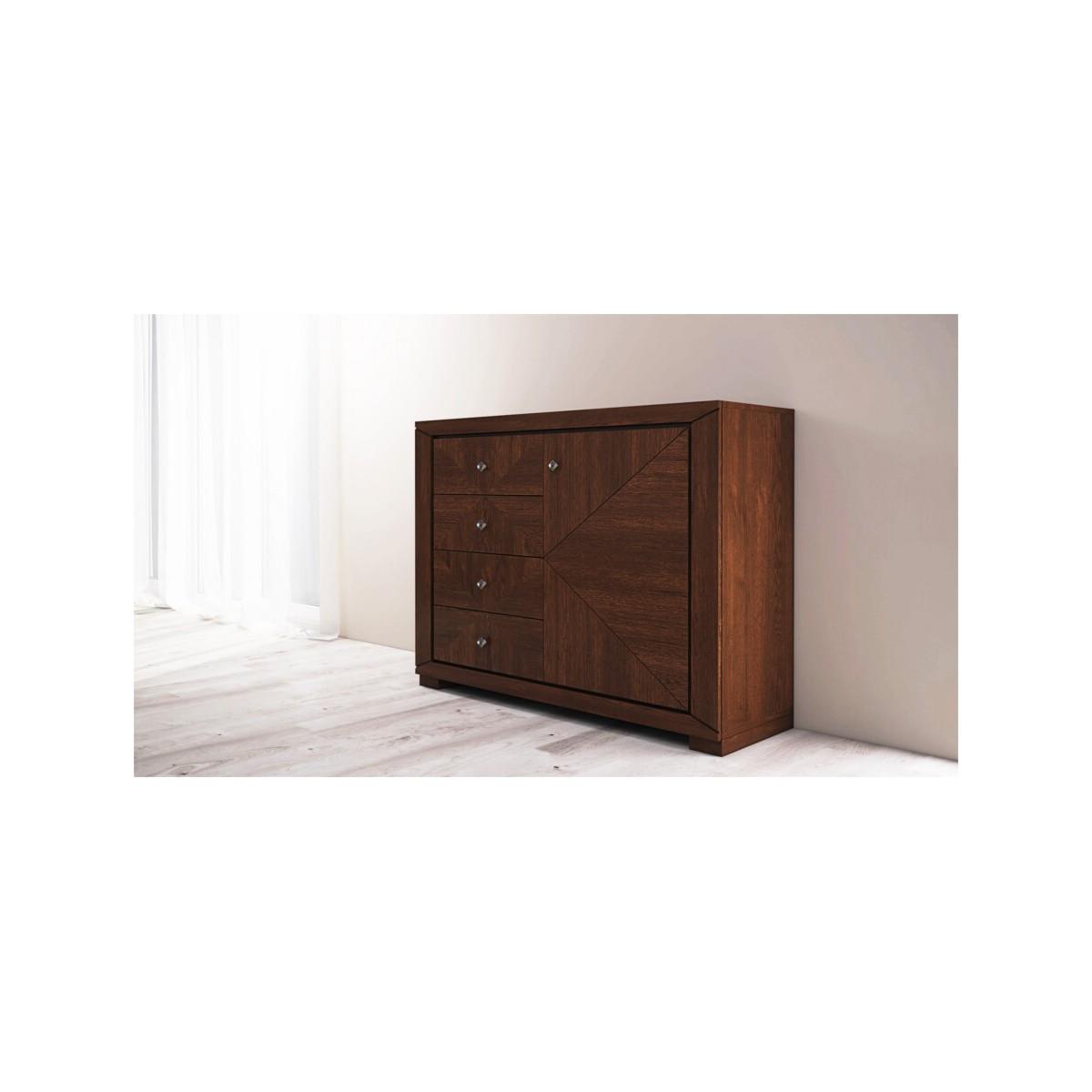 Cube Komoda 130 drzwi z intarsją
