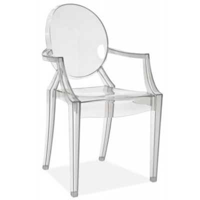 Krzesło Luis przezroczyste Signal