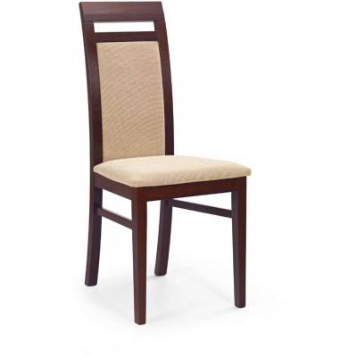 Albert krzesło ciemny orzech torent beige Halmar