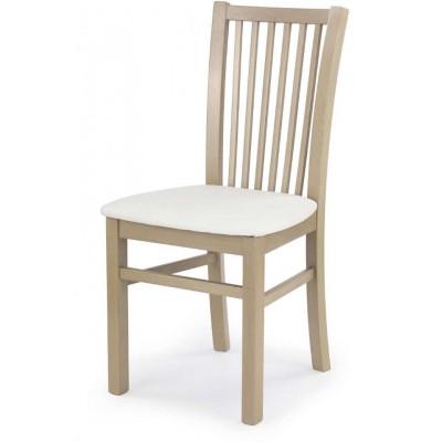 Jacek krzesło dąb sonoma biała eko skóra Halmar