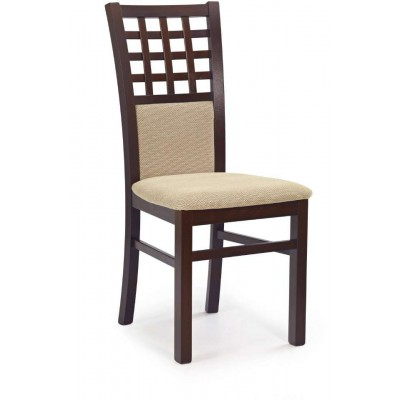 Gerard 3 krzesło ciemny orzech tornet beige Halmar
