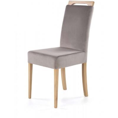 Clarion krzesło dąb miodowy / welur RIVIERA 91 Halmar
