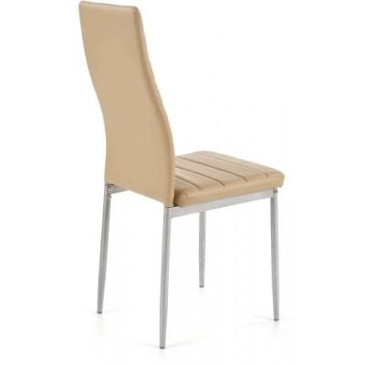 K70 krzesło popielaty-jasny brąz Halmar