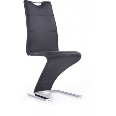 K291 krzesło czarne designerskie zygzak Halmar