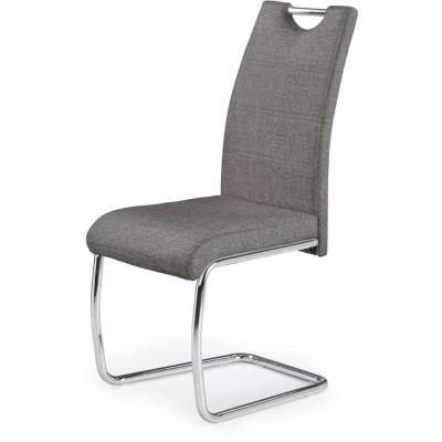 K349 krzesło chrom popielate Halmar