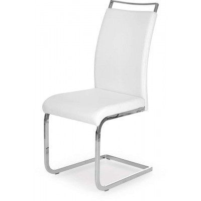 K250 krzesło chrom białe Halmar