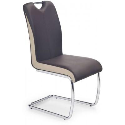 K184 krzesło ciemny brąz champagne Halmar