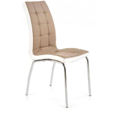 K186 krzesło cappucino-białe Halmar