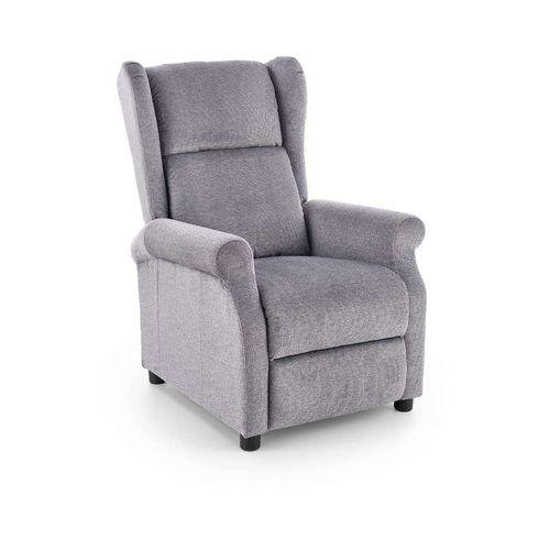 Agustin popielaty fotel rozkładany relax Halmar