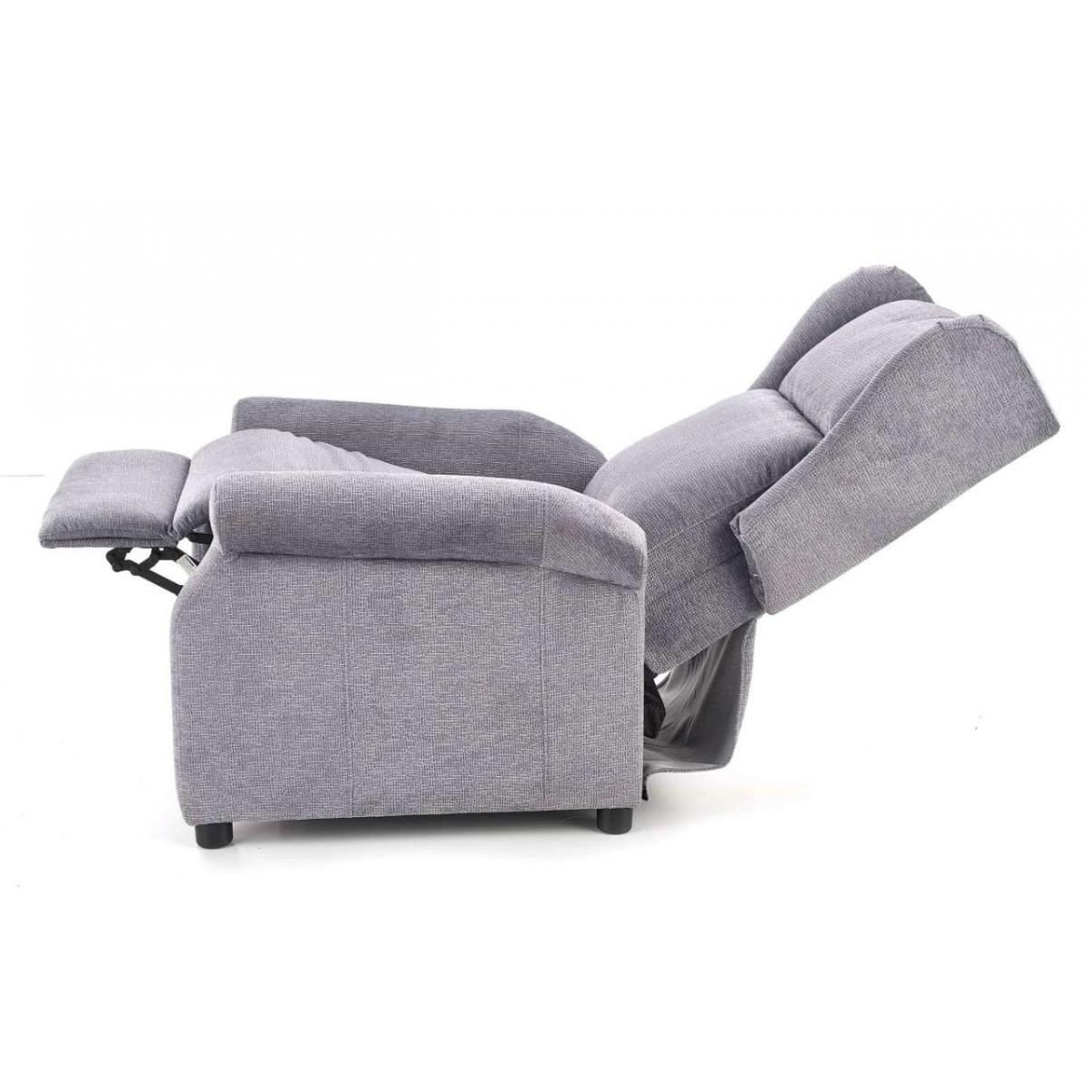 Agustin popielaty fotel rozkładany relax