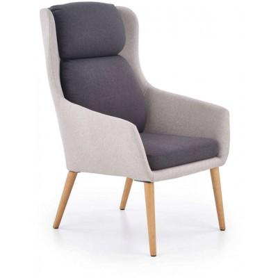 Purio fotel jasny-ciemny popiel Halmar