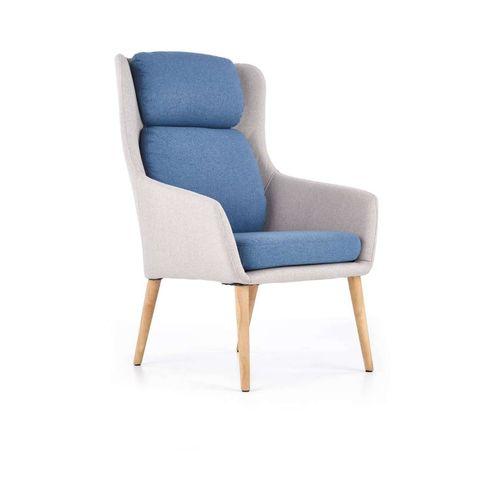 Purio jasny popiel-niebieski fotel Halmar