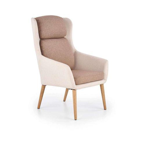 Purio fotel beżowo-brązowy Halmar