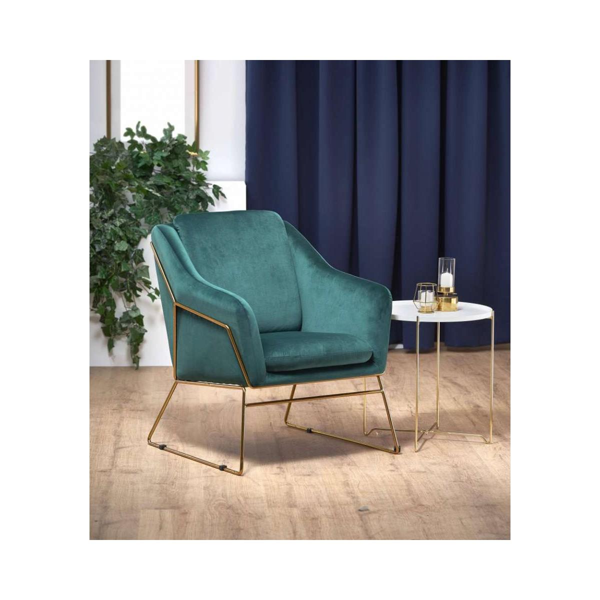 Soft 3 fotel ciemny zielony