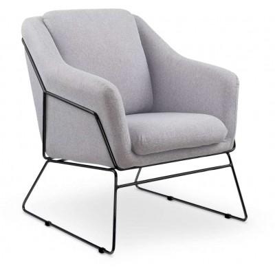 Soft 2 fotel jasny popielaty Halmar