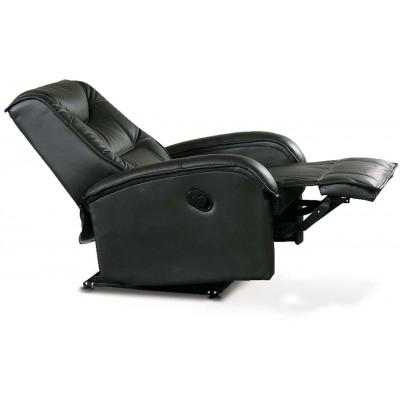 Jeff czarny fotel relaks Halmar