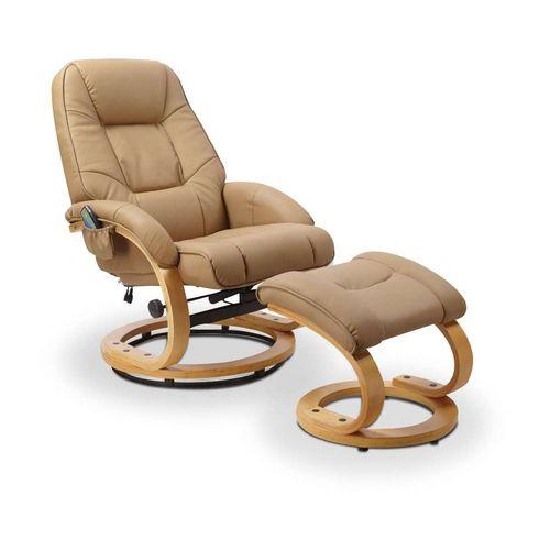 Matador beżowy fotel rozkładany z funkcją masażu i podgrzewania Halmar