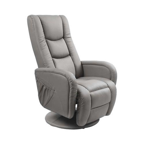 Pulsar popielaty fotel rozkładany z funkcją masażu i podgrzewania Halmar