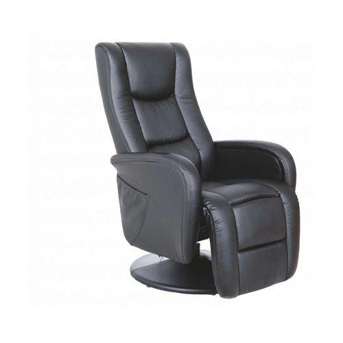 Pulsar czarny fotel rozkładany z funkcją masażu i podgrzewania Halmar