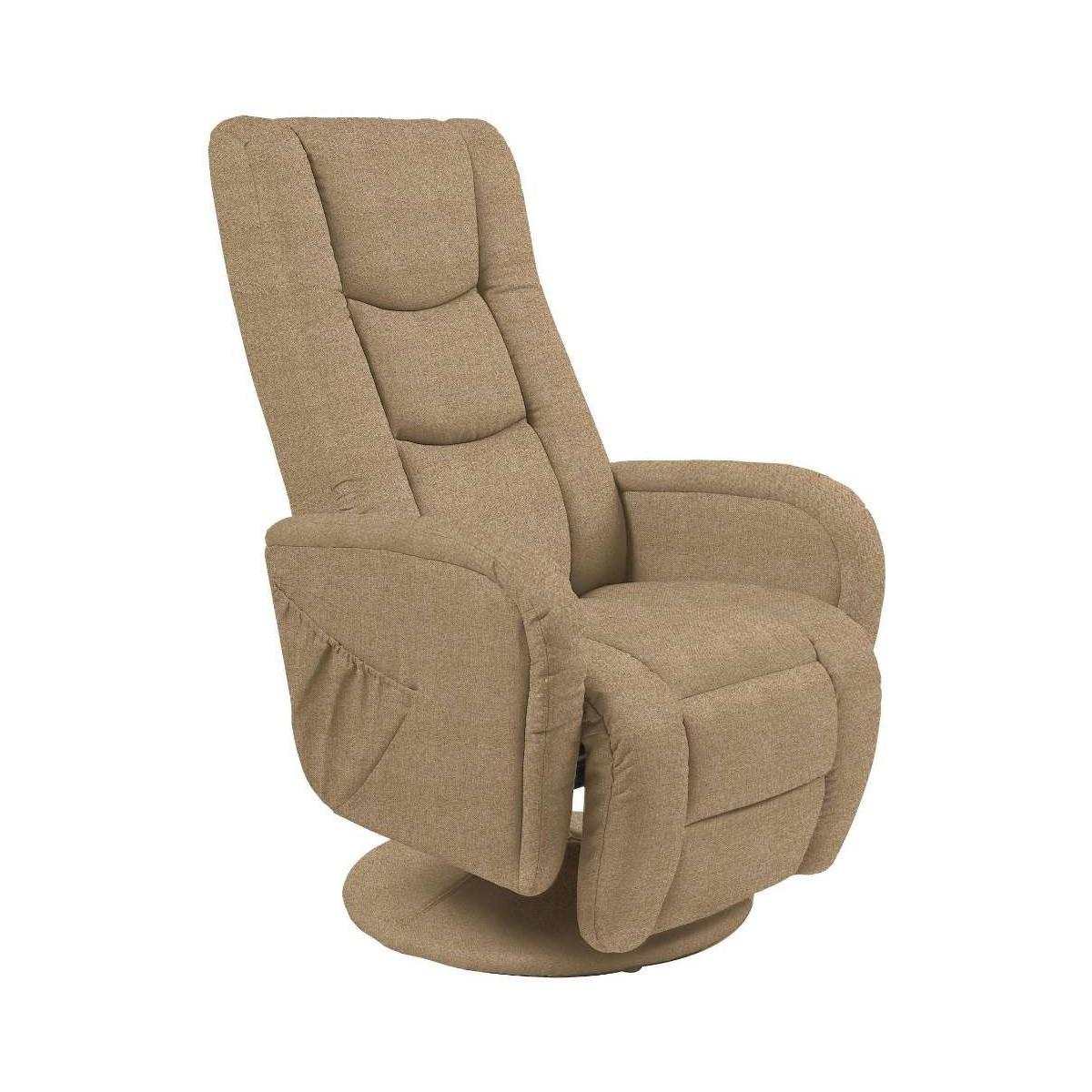 Pulsar beżowy fotel rozkładany z funkcją masażu i podgrzewania
