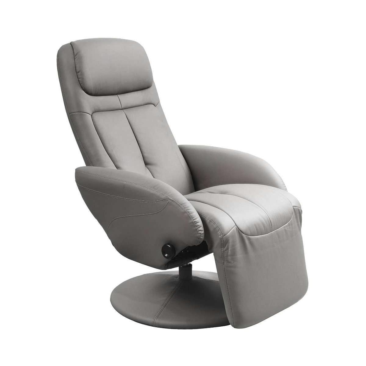 Optima popielaty fotel rozkładany