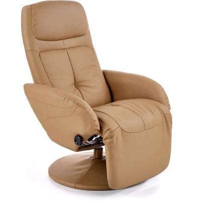 Optima beżowy fotel relaks Halmar