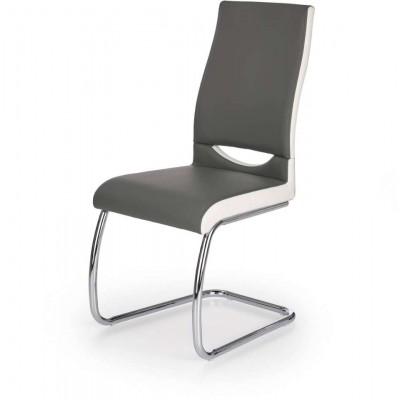 K259 krzesło popielato-białe Halmar