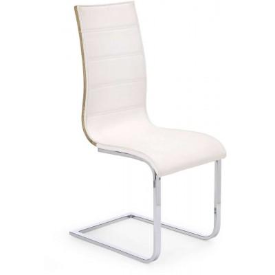 K104 krzesło białe/dąb sonoma Halmar