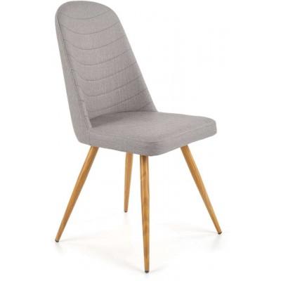 K214 krzesło popielate/dąb miodowy Halmar