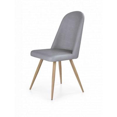 K214 krzesło dąb miodowy/ciemny krem Halmar