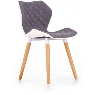 K277 krzesło popielato-białe Halmar