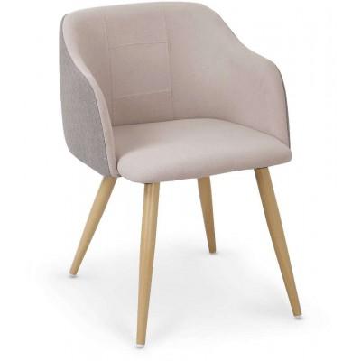 K288 krzesło jasny popiel-beżowy Halmar