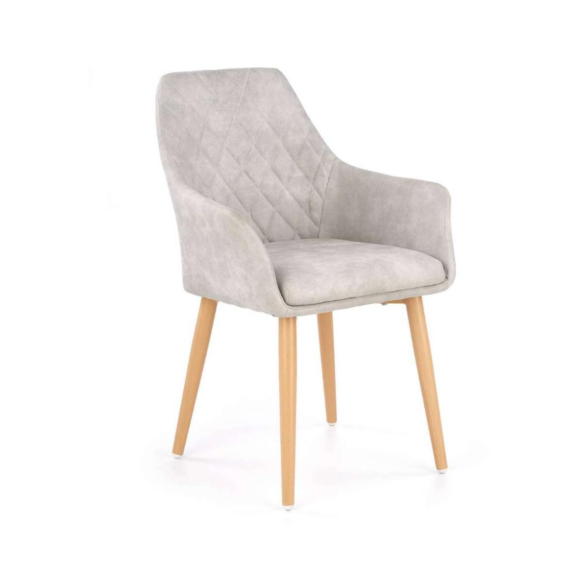 K287 krzesło popielate Halmar
