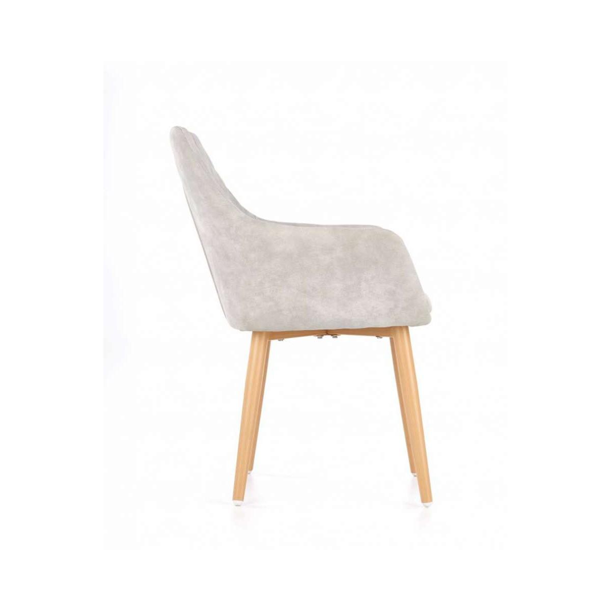 K287 krzesło popielate