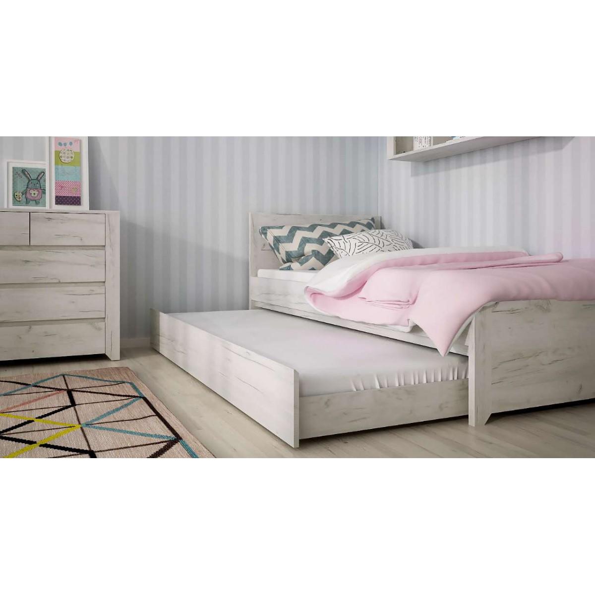 Łóżko Angel Typ 90 Dąb White Craft