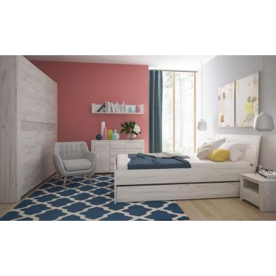 Łóżko Angel 90 Dąb White Craft Meble Wójcik