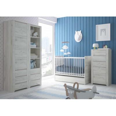 Łóżeczko dziecięce Angel 98 Dąb White Craft Meble Wójcik