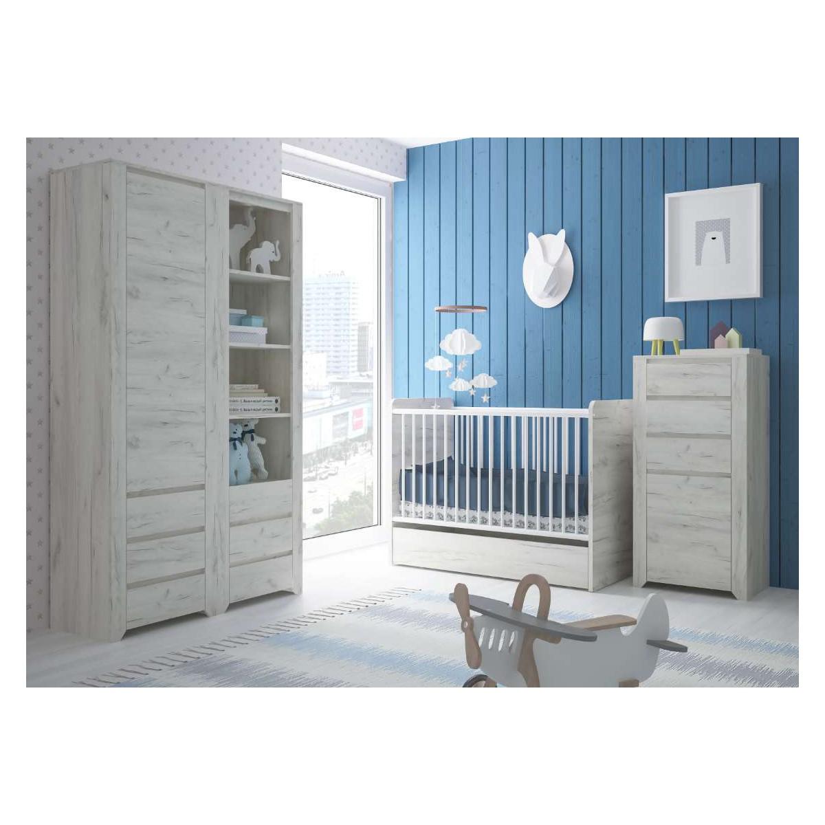 Łóżeczko dziecięce Angel Typ 98 Dąb White Craft