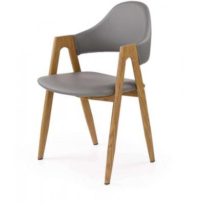K247 krzesło popielate Halmar