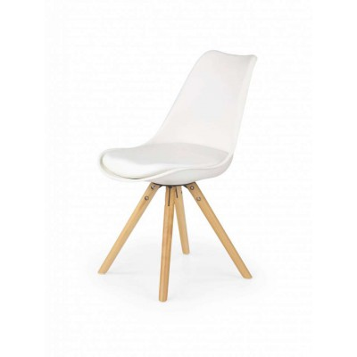 K201 białe krzesło eko skóra Halmar